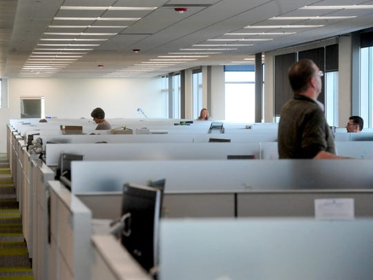 Open space and and work areas with natural light were part of the design of the new Blue Cross Blue Shield Montana building.
