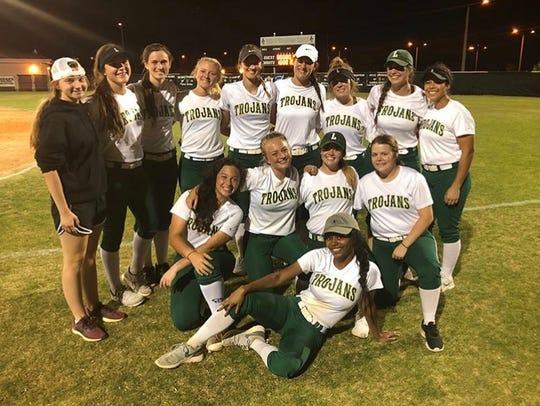 Lincoln's softball team celebrates the end of the season