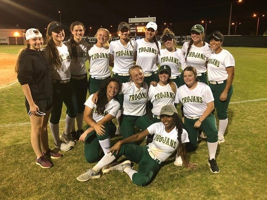 Lincoln's softball team celebrates the end of the season in a 2-1 defeat to defending 8A state champion Oakleaf.