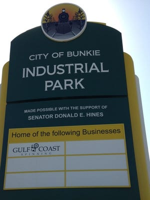 The Bunkie Industrial Park is located on Louisiana Highway 115.