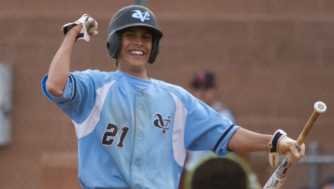 Canyon View's Juan Lares celebrates as the Falcons defeat Clearfield in a 2012 game.