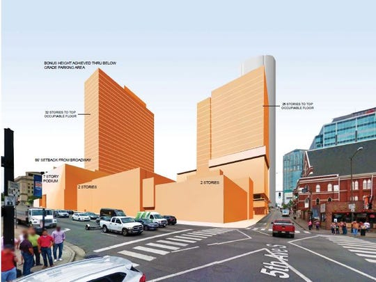 Another page from the massing presentation to the MDHA design review committee.