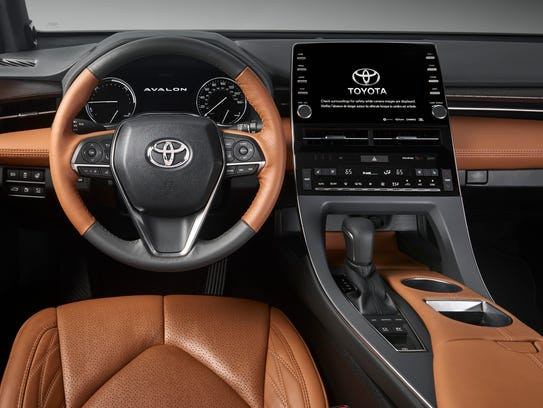 The interior of the 2019 Toyota Avalon Hybrid.