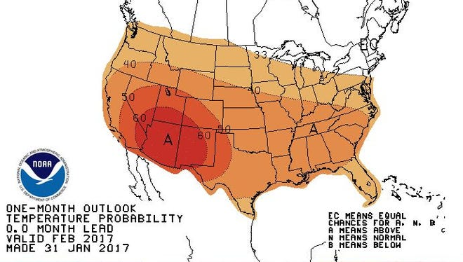 U.S. February Temperature Outlook.