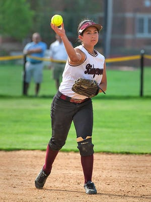 Sami DeMarco was one of six Ridgewood players with an RBI in Tuesday's softball win versus Glen Rock.