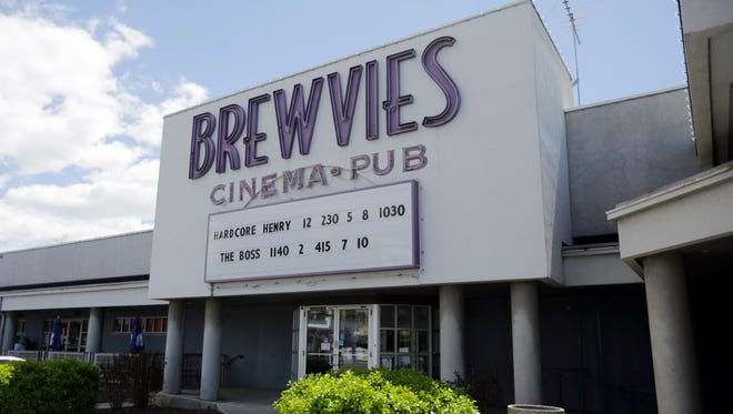 "Brewvies Cinema Pub is  viewed Monday, April 18, 2016, in Salt Lake City. Utah alcohol bosses have filed a complaint and will consider revoking the liquor license of a movie theater it says violated a state obscenity law by serving drinks while screening ""Deadpool,"" which features simulated sex scenes. The theater said the law is unconstitutional and has threatened to challenge it in court if the complaint is not dropped."