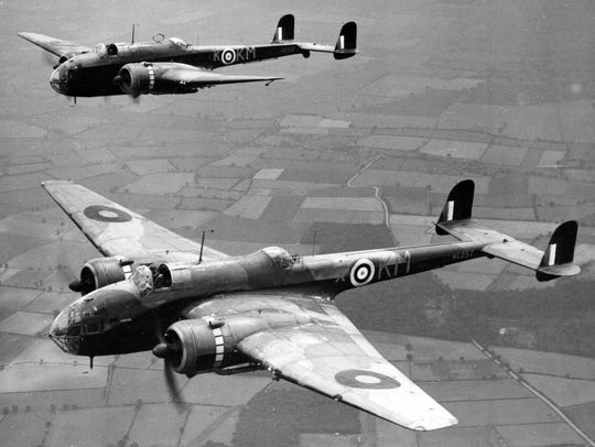 A Royal Air Force Bomber Command flight in September