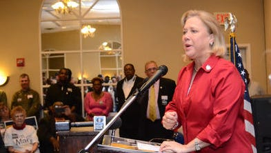 U.S. Sen. Mary Landrieu, D-New Orleans, speaks at a campaign rally today in Alexandria. She is seeking her fourth term in the Senate in Tuesday's primary election.