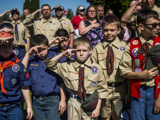 FILE - The Boy Scouts are getting a name change. The Boy Scouts of America says the program for 11- to 17-year-old boys will become Scouts BSA starting next year.