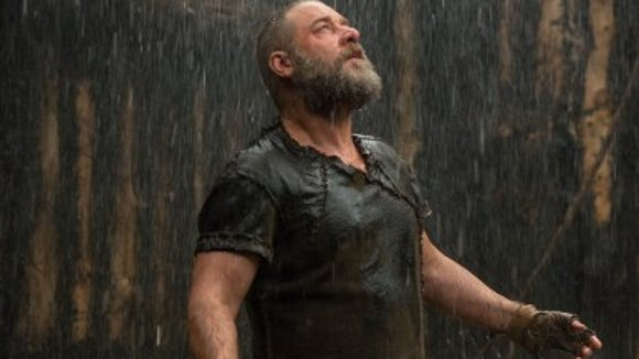 """Russell Crowe stars in the new film """"Noah,"""" one of several movies with religious themes currently in theaters."""