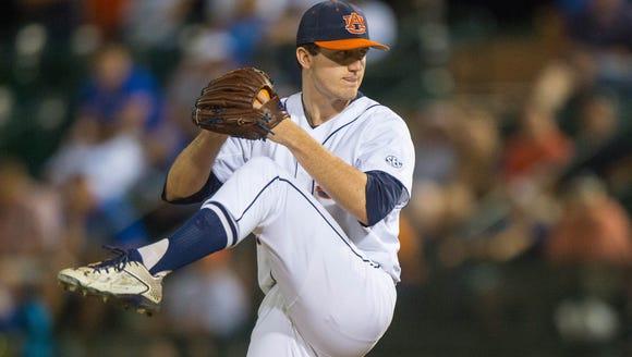 Casey Mize (32).Kentucky vs Auburn Baseball on Saturday,