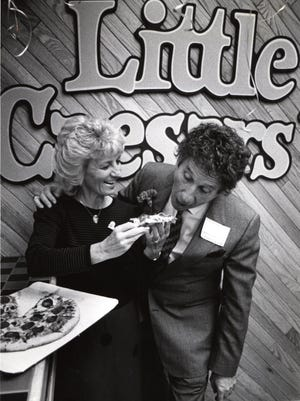 Marian and Mike Ilitch in 1986 about the time they decided to move their business to downtown Detroit.