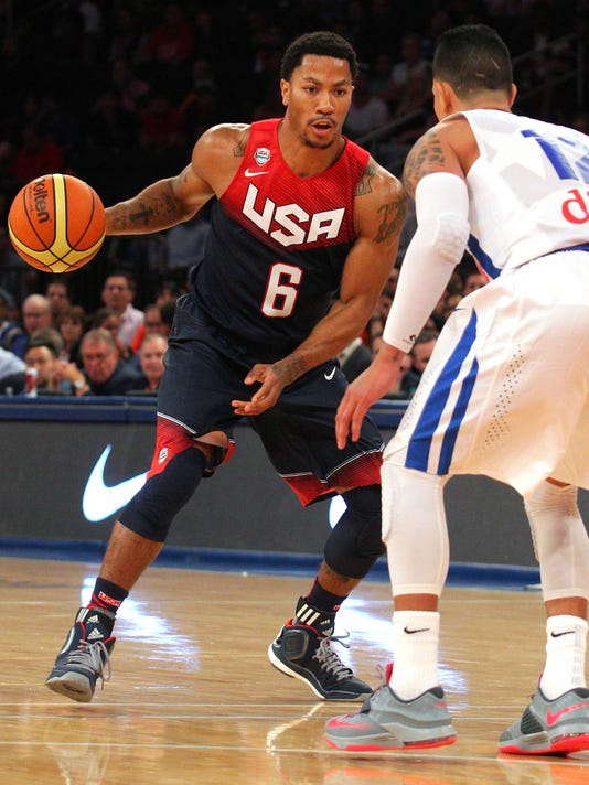 pas mal 0590a a8ef9 Derrick Rose looks 'phenomenal' for USA vs. Puerto Rico