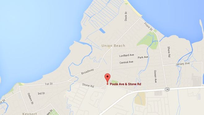 The location of a standoff in Union Beach late Friday, that briefly put  a portion of the borough in lockdown.