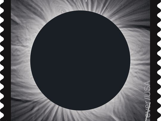 US Postal Service Total Solar Eclipse stamp released Tuesday