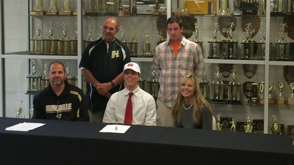 Hayesville senior Tyler Leek has signed to play college baseball for North Greenville (S.C.).