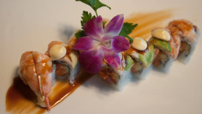 Tiger Roll is shown at the  OSushi Restaurant in Marlton, N.J.