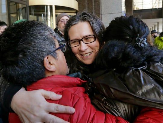 Maru Mora-Villalpando, a longtime activist for illegal