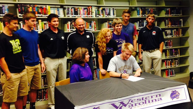 North Buncombe senior Bryce Myers has signed with the Western Carolina University track program.