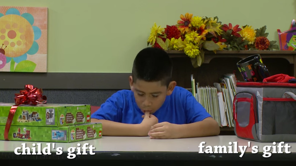 When asked if they wanted the gift for them or for their family, these kids chose their loved ones over themselves.