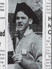 William Schneider February 21 1963 in Colonial Williamsburg - from the pages of the Burlington Free Press.