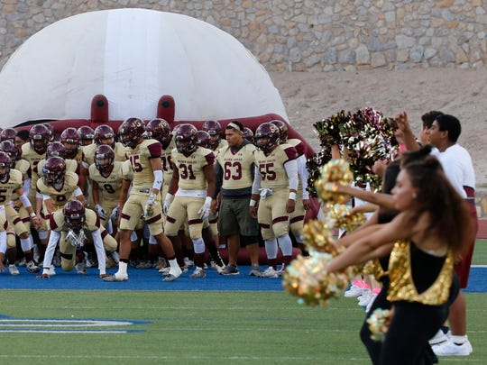 The Andress Eagles prepared to take the field Thursday night against the Bowie Bears at Bowie Stadium.