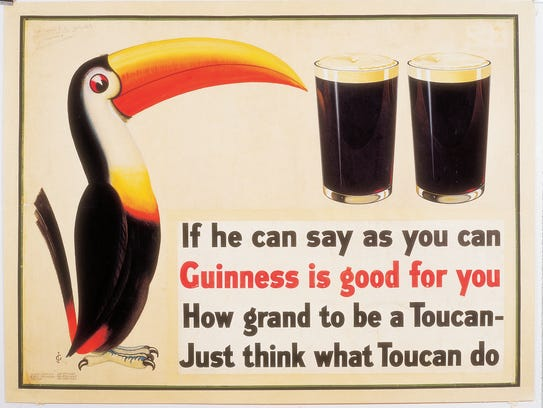 The first Guinness toucan advertisement from 1935.