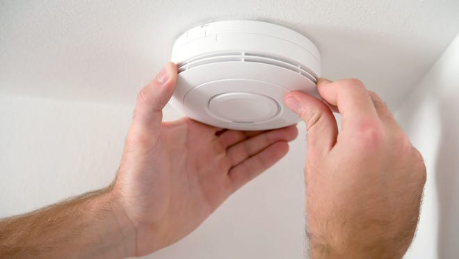 You should test your smoke detectors monthly and replace the batteries each year.