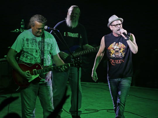 Meat Puppets and Gin Blossoms perform after being inducted into the Arizona Music & Entertainment Hall of Fame on Thursday, Aug. 17, 2017 at Celebrity Theatre in Phoenix.