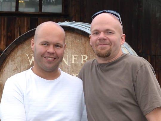Brandon Hufnagel, left, and Matt Wink are the new owners of the Glen Rock Mill Inn.