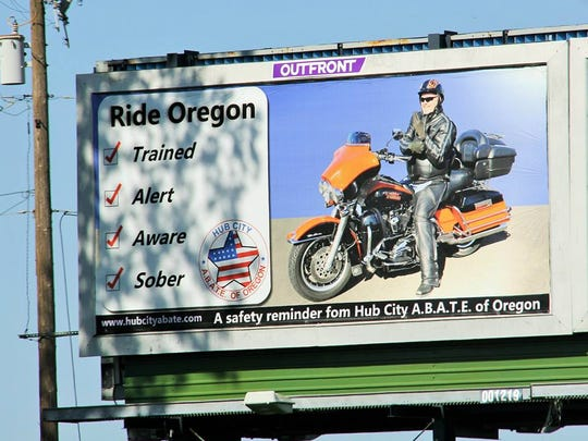 Hub City Abate's annual June Poker Run expects between 150 and 250 bikes cruising area roads between 10 a.m. and 3 p.m. as a fundraiser benefiting motorcycle awareness, rights and education for motorcycle riders in Oregon.