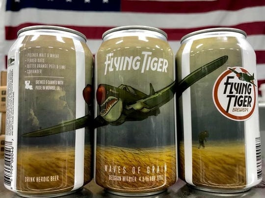 Flying Tiger Brewing's summer seasonal beer, Waves