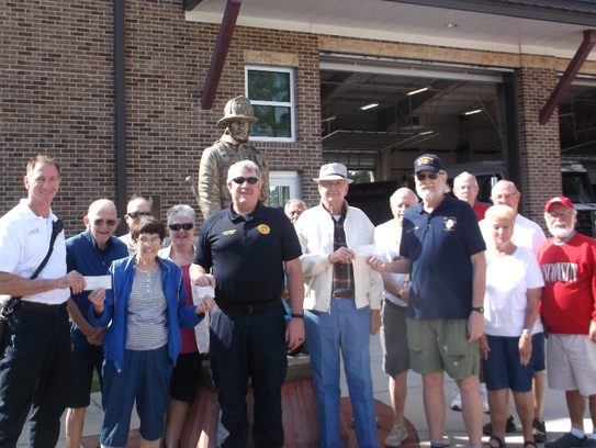A total of $4,500 is presented to three fire departments