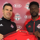 Tosaint Ricketts, right, who played on the UWGB soccer team from 2005-08, signed a contract with FC Toronto of Major League Soccer on Wednesday.  Toronto coach Greg Vanney, left, presents a jersey.
