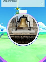 Players of Pokémon Go can learn some history when visiting