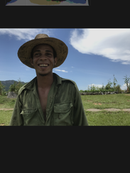 I took this photo of an organic farmer in Vignales,