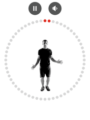 The Johnson & Johnson 7 Minute Workout App's jumping