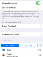 The new Battery Health beta feature is found in Settings.