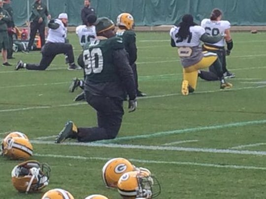 Green Bay Packers defensive tackle B.J. Raji (90) was back on the practice field on Monday.