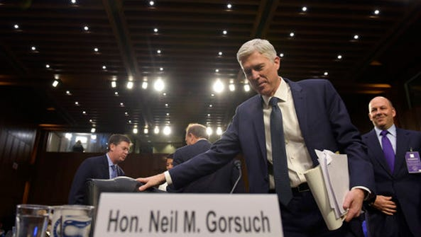 Supreme Court Justice nominee Neil Gorsuch return from