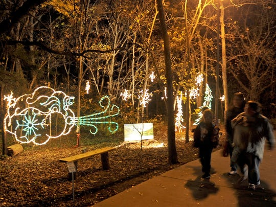 Old Man Winter seems to add a chill to the air during ElectriCritters at River Bend Nature Center in this file photograph. ElectriCritters opens 6:30-8:30 p.m. Nov. 18. The holiday display features a lighted trail, cocoa, hot cider, warm cookies and live critters to view.