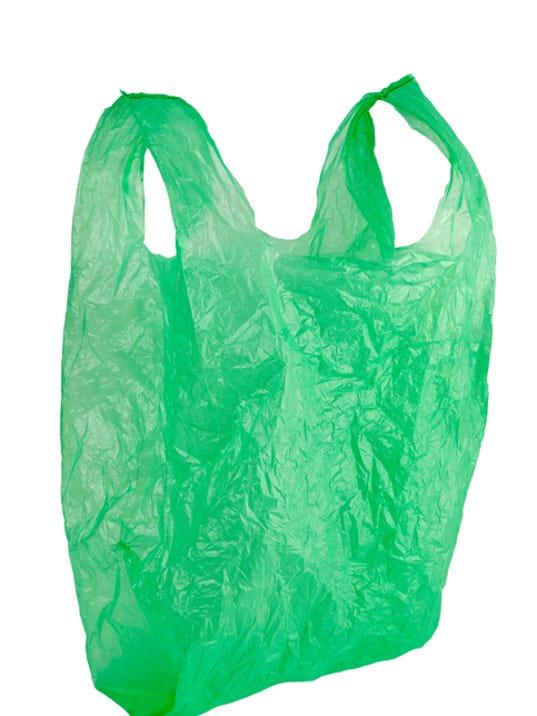 green plastic bag