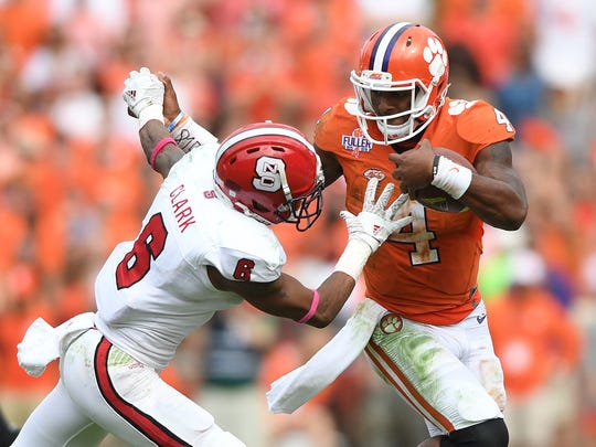 Clemson quarterback Deshaun Watson (4) and the Tigers take on Florida State on Saturday.