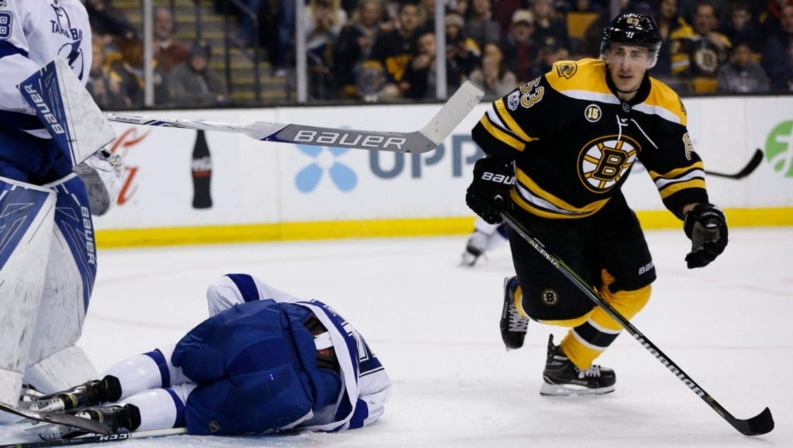 Brad Marchand Ejected For Spearing In Bruins 39 Playoff Clinching Win