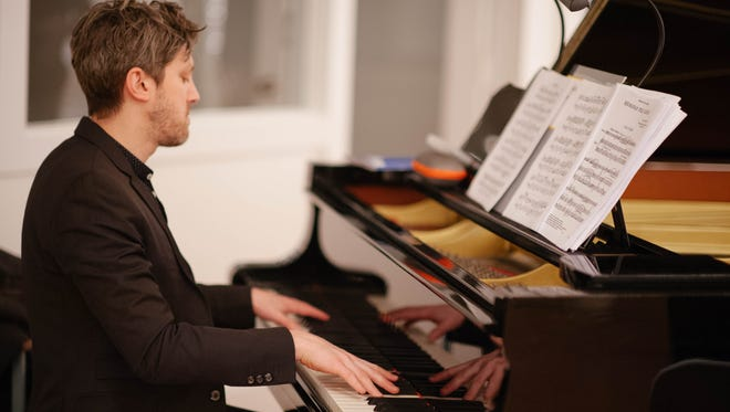 """Pianist Cory Smythe plays a leading role in Present Music's """"Give Chance a Piece"""" concerts."""