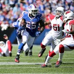Justin Hunter's first catch for the Bills went for a touchdown last week in Los Angeles.
