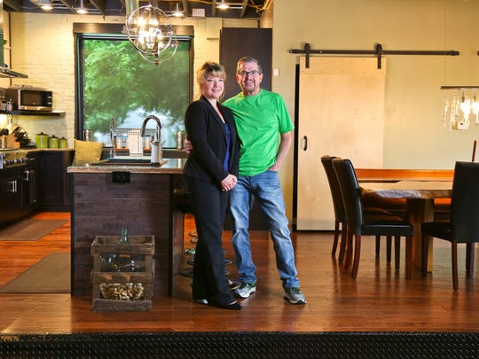 JoAnn and Jeff Sumler renovated this former brewery built in 1875, which then housed a church before the couple bought it for $30,000. Open space is one of the big features the couple appreciates.