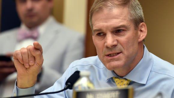 Republican US Representative for Ohio, Jim Jordan,
