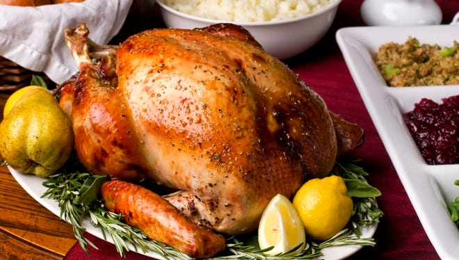 Reservations are essential for Strongbow Inn's popular Thanksgiving buffet.