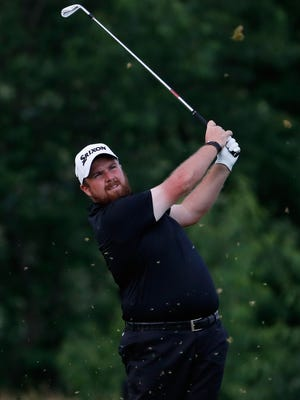 Shane Lowry of Ireland plays his shot from the 13th tee  Saturday during the third round of the U.S. Open at Oakmont Country Club.